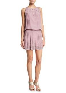 Ramy Brook Hilary Studded Lace-Up Short Dress