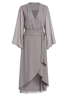 Ramy Brook Julie Diamond Faux Wrap Midi Dress
