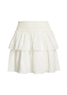 Ramy Brook Kelly Smock-Waist Ruffle Skirt