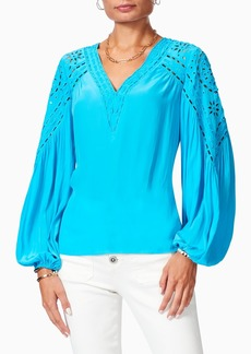 Ramy Brook Komi Eyelet Long Sleeve Blouse