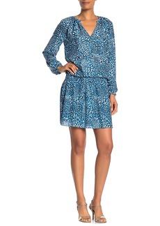 Ramy Brook Landa Printed Keyhole Shirred Waist Dress