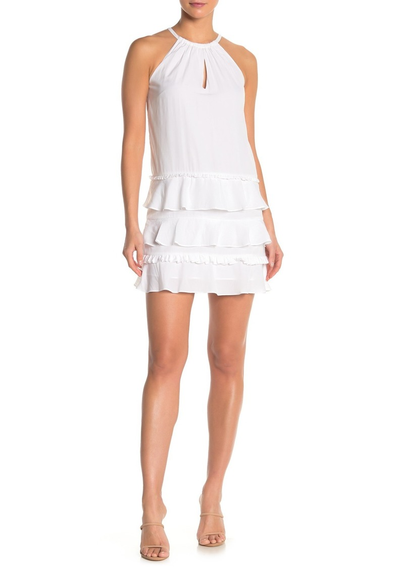 Ramy Brook Leo Layered Ruffle Tank Dress