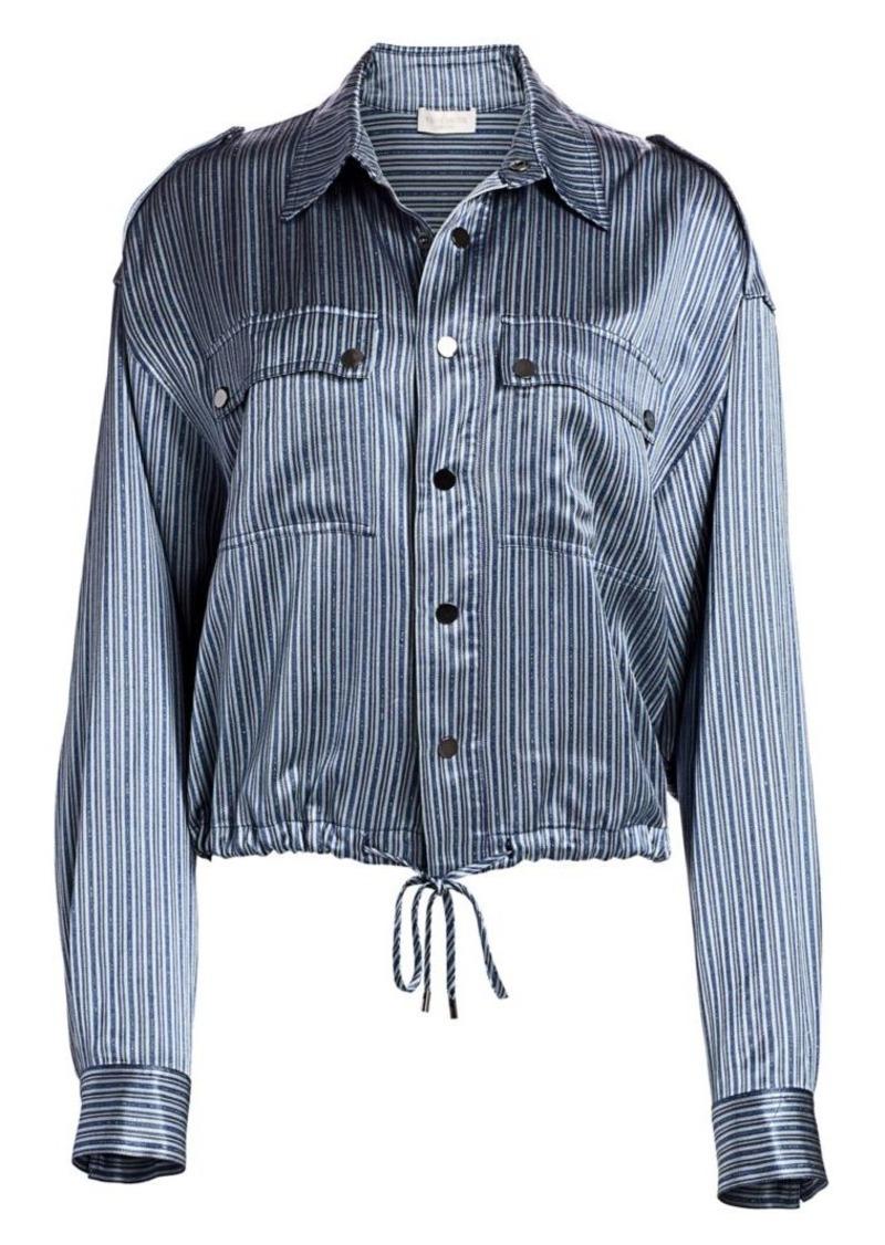 Ramy Brook Lia Lurex Stripe Jacket