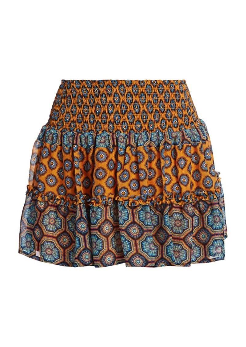 Ramy Brook Livvy Printed Silk Mini Skirt