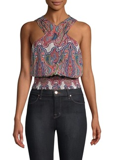 Ramy Brook Lorenza Printed Silk Blouse
