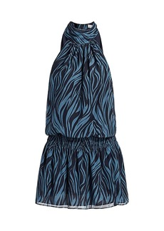 Ramy Brook Lori Zebra Print Dress