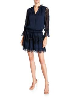 Ramy Brook Lottie Lace-Inset Short Dress