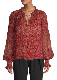 Ramy Brook Luanne Paisley Silk Blouse