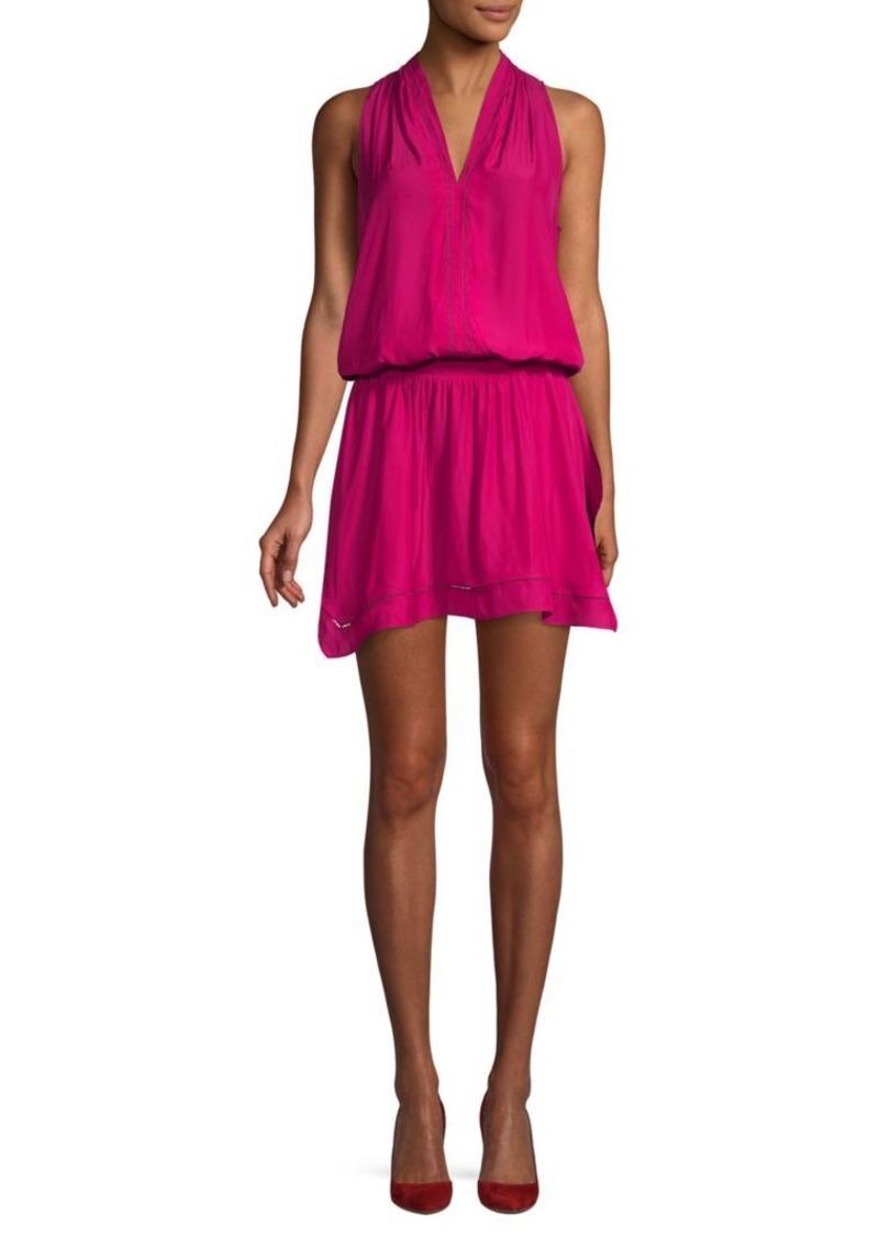 Ramy Brook Lucy V-neck Flounce Mini Dress