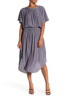 Ramy Brook Mary Shirred Waist Asymmetrical Hem Dress