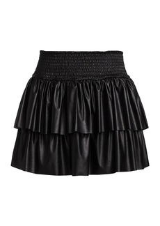 Ramy Brook Maryjo Faux-Leather Skirt