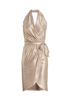 Ramy Brook Maura Metallic Wrap Dress