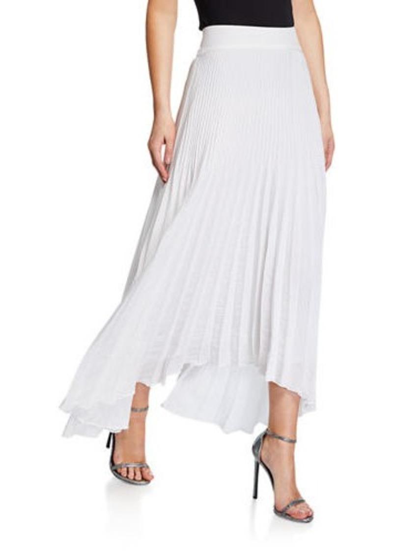 Ramy Brook Maxine Plisse Handkerchief-Hem Skirt