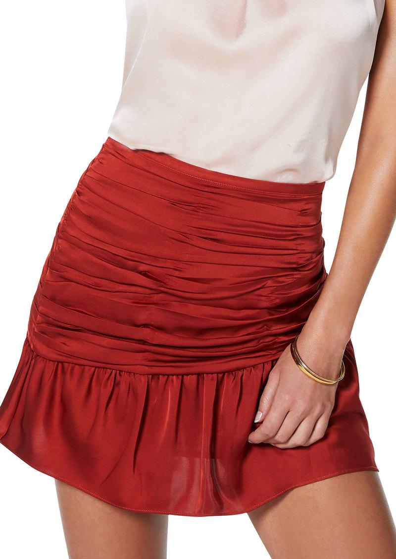Ramy Brook Mini Ruched Short Skirt
