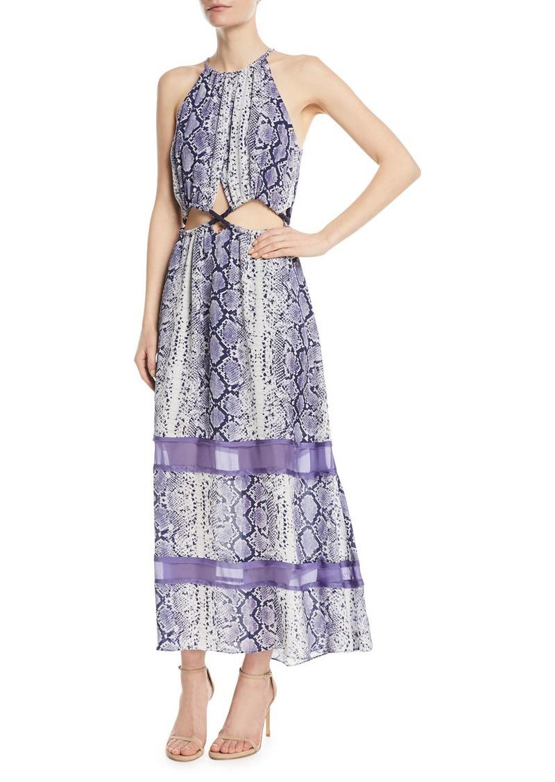 397791d8e18 Ramy Brook Norina Sleeveless Snake-Print Silk Maxi Dress