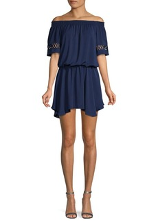 Ramy Brook Off-The-Shoulder Mini Dress