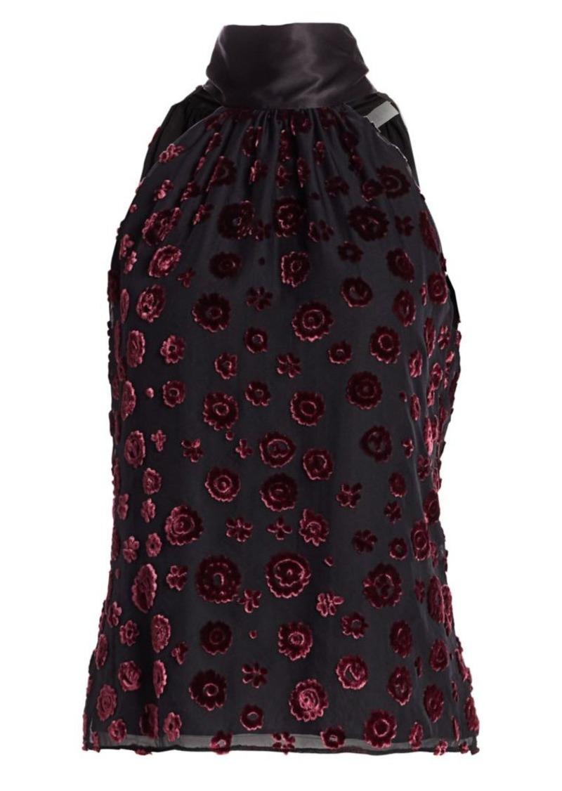 Ramy Brook Pam Velvet Floral Halter Top