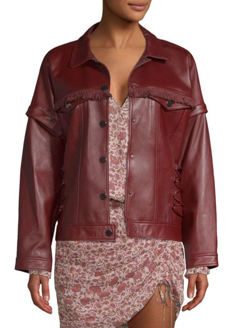 Ramy Brook Parker Fringe Leather Jacket