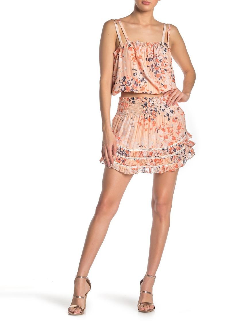 Ramy Brook Printed Dixie Silk Skirt