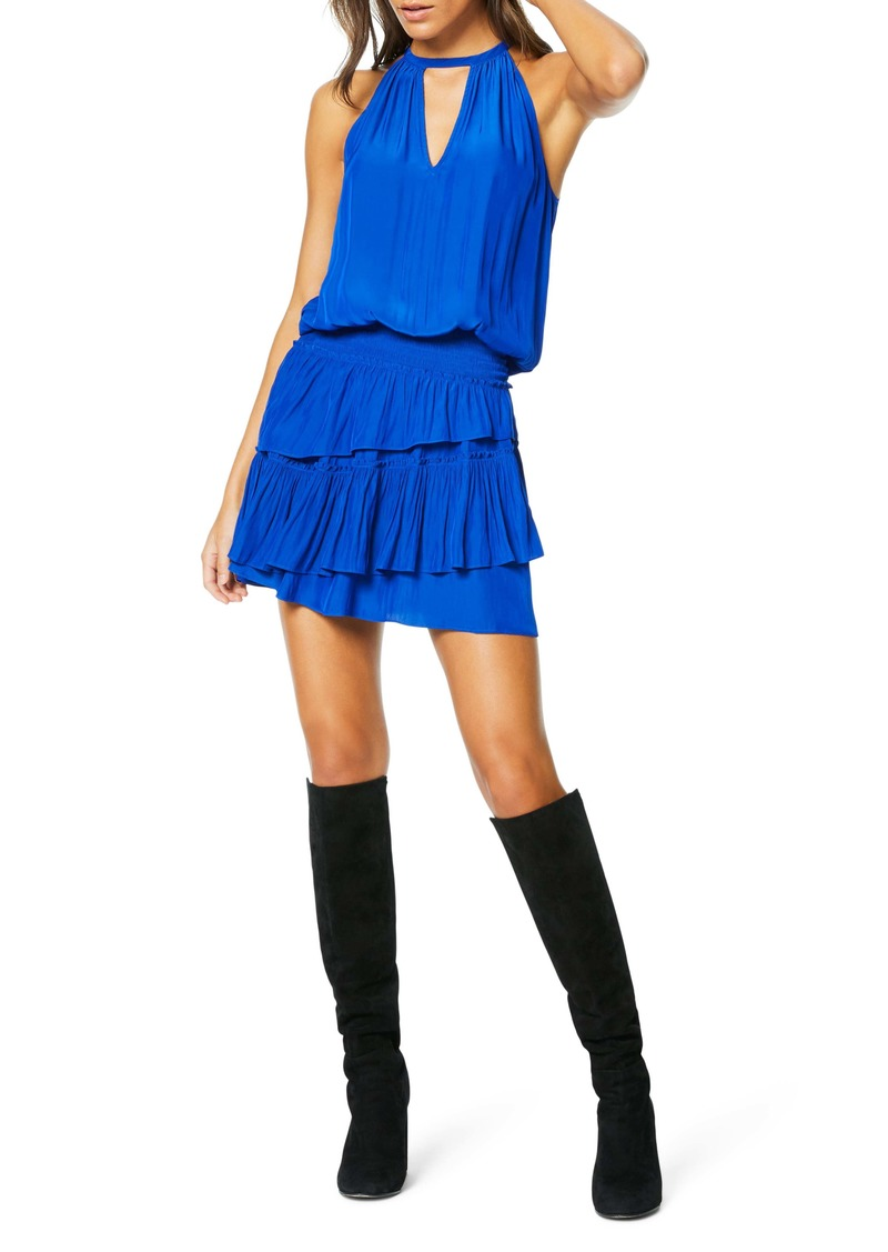 Ramy Brook Alexandra Sleeveless Ruffle Minidress