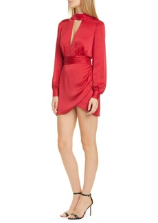 Ramy Brook Angela Plunge Neck Long Sleeve Minidress