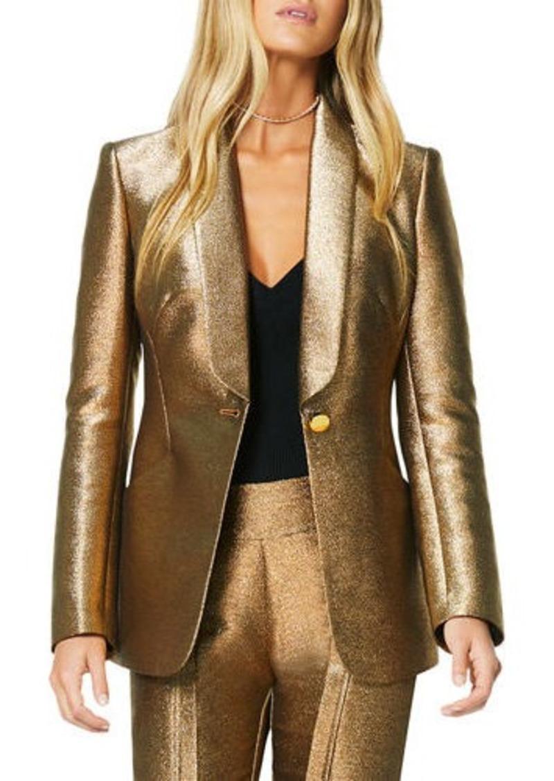 Ramy Brook Dahlia Metallic Shawl-Collar Jacket