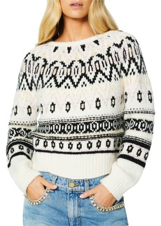 Ramy Brook Gavin Crewneck Fair Isle Sweater