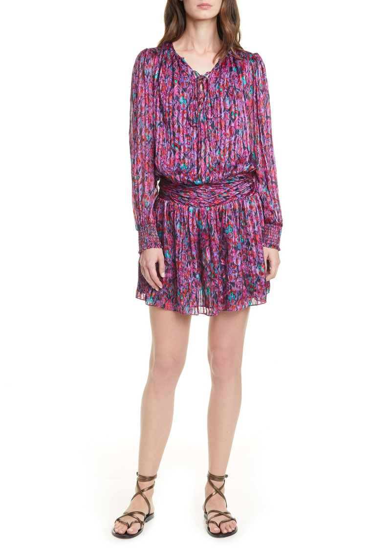 Ramy Brook Gessie Long Sleeve Print Silk Dress