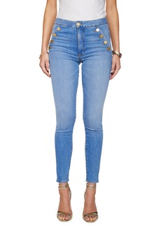 Ramy Brook Helena Button Detail Ankle Skinny Jeans