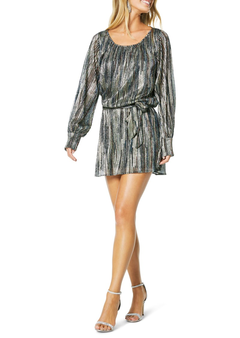 Ramy Brook Jordan Long Sleeve Metallic Rib Dress