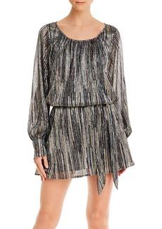 Ramy Brook Jordan Metallic Ribbed Mini Dress