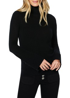Ramy Brook Kathy Wool-Cashmere Turtleneck Sweater with Snaps