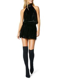 Ramy Brook Lori Metallic Velvet Sleeveless Minidress