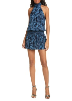 Ramy Brook Lori Print Silk Sleeveless Dress