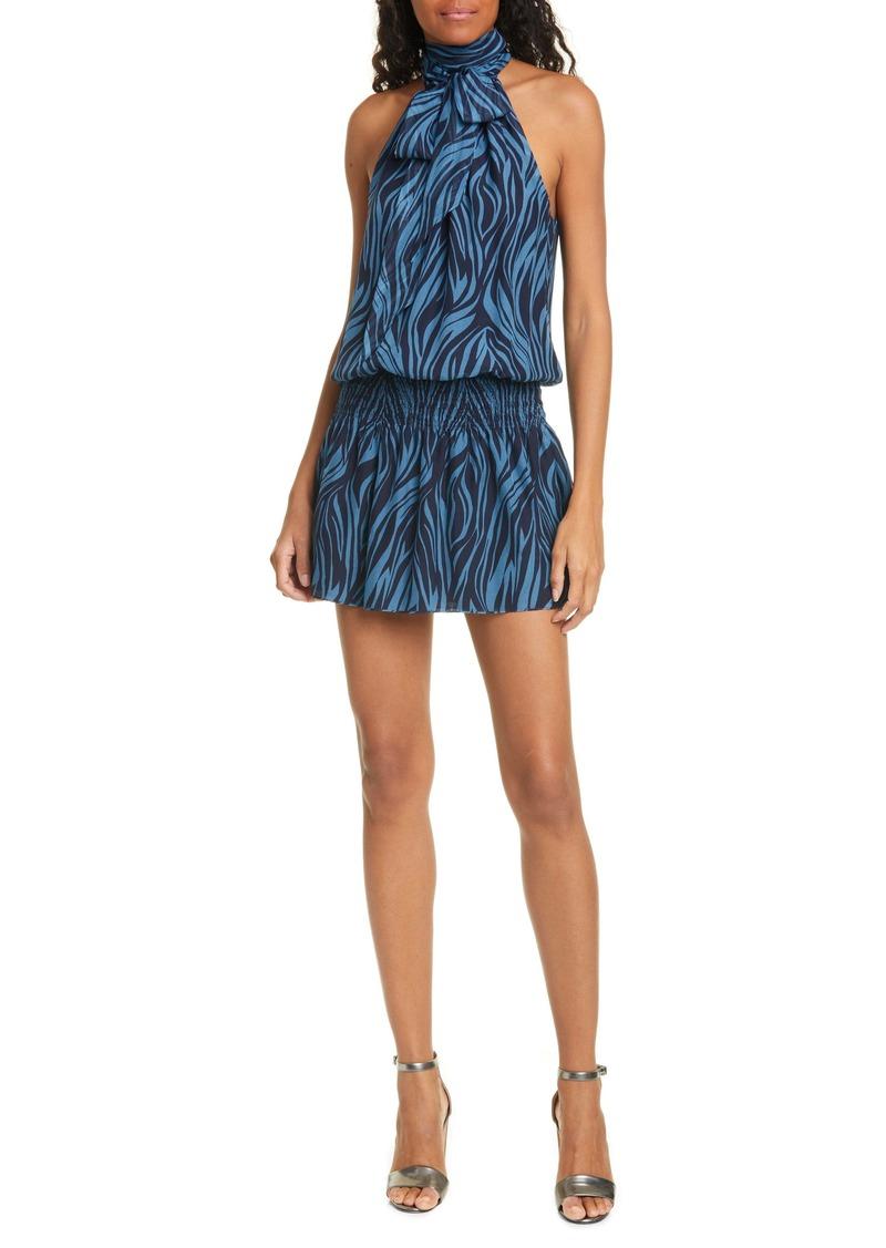 Ramy Brook Lori Print Silk Sleeveless Dress