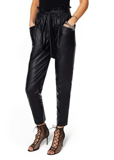 Ramy Brook Marty Faux Leather Paperbag Waist Pants