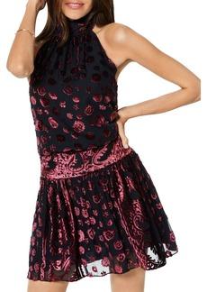 Ramy Brook Naima Burnout Velvet Mini Dress