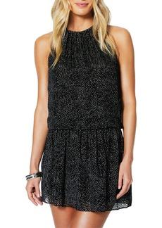Ramy Brook Paris Burnout Sleeveless Jewel-Neck Mini Dress