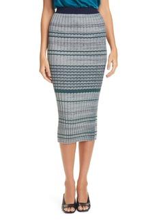 Ramy Brook Paula Chevron Silk Skirt