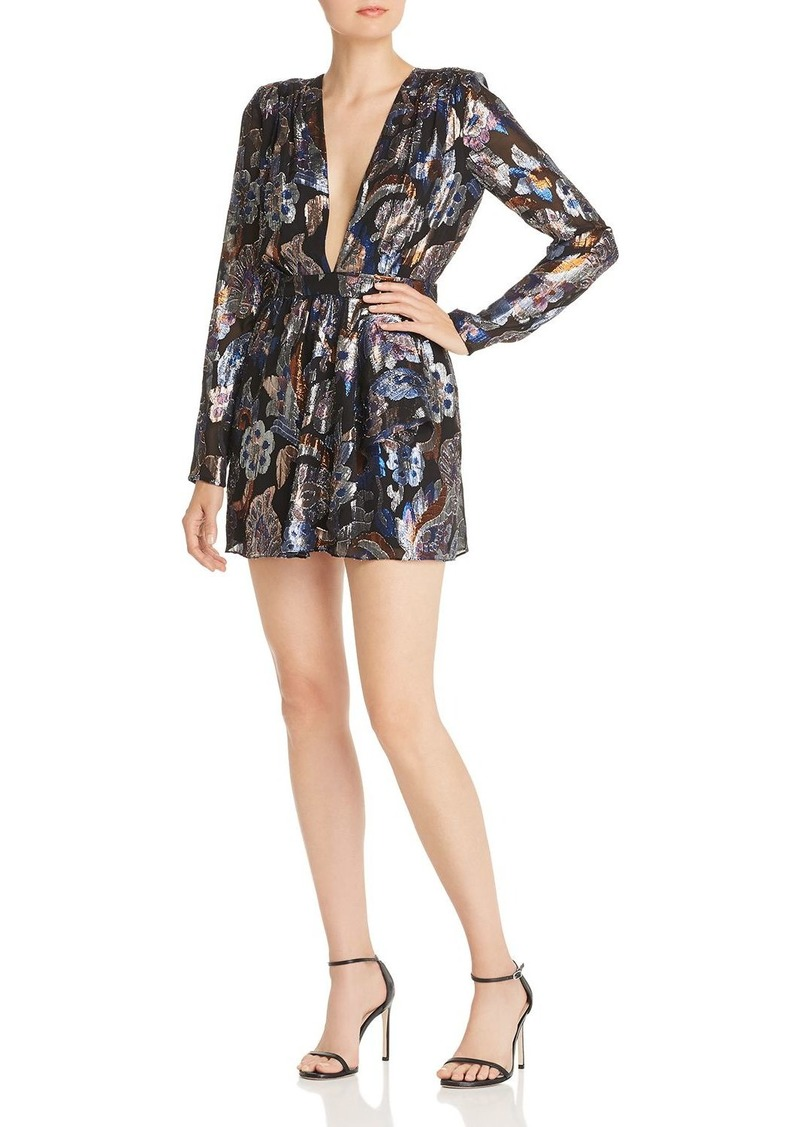 Ramy Brook Shaina Metallic-Floral Mini Dress