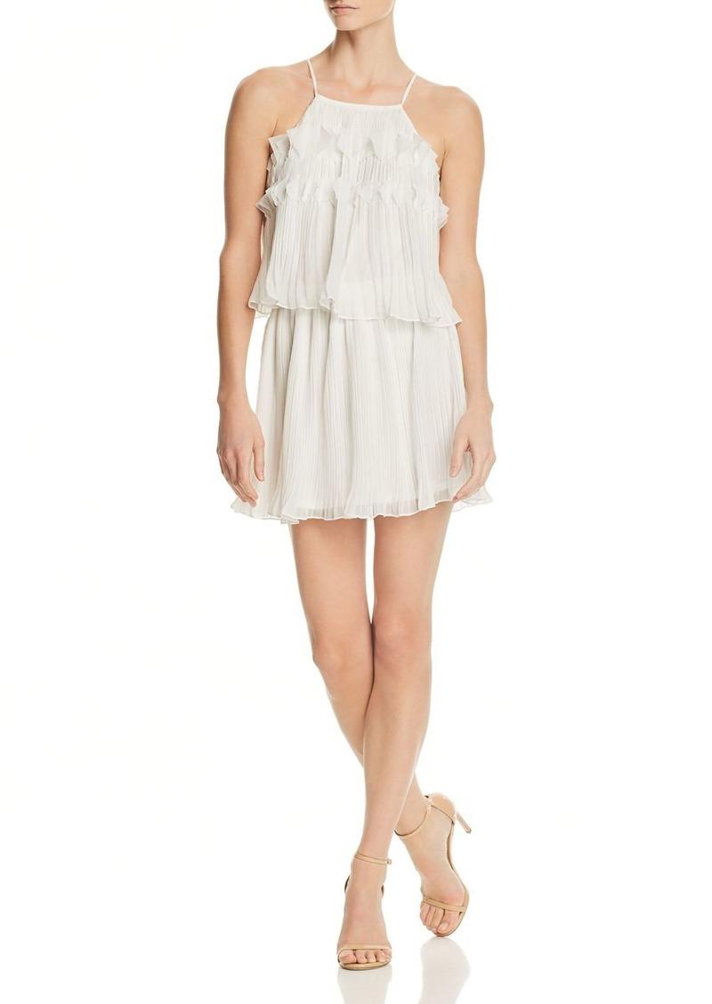 Ramy Brook Shauna Pleated Mini Dress