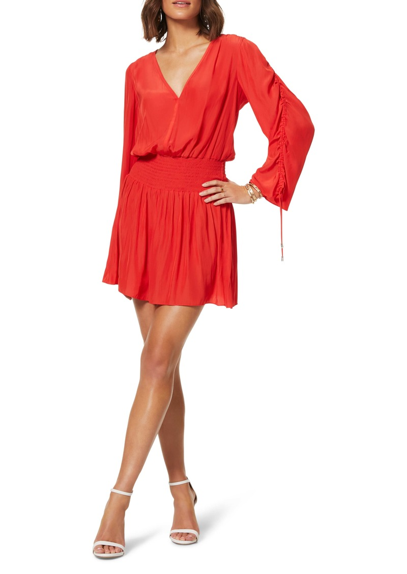 Ramy Brook Smock Waist Long Sleeve Dress