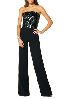 Ramy Brook Strapless Sequin Jumpsuit