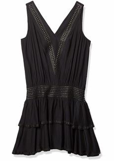 Ramy Brook Women's Carlyle Sleeveless Dress with Embellishment and Ruffles