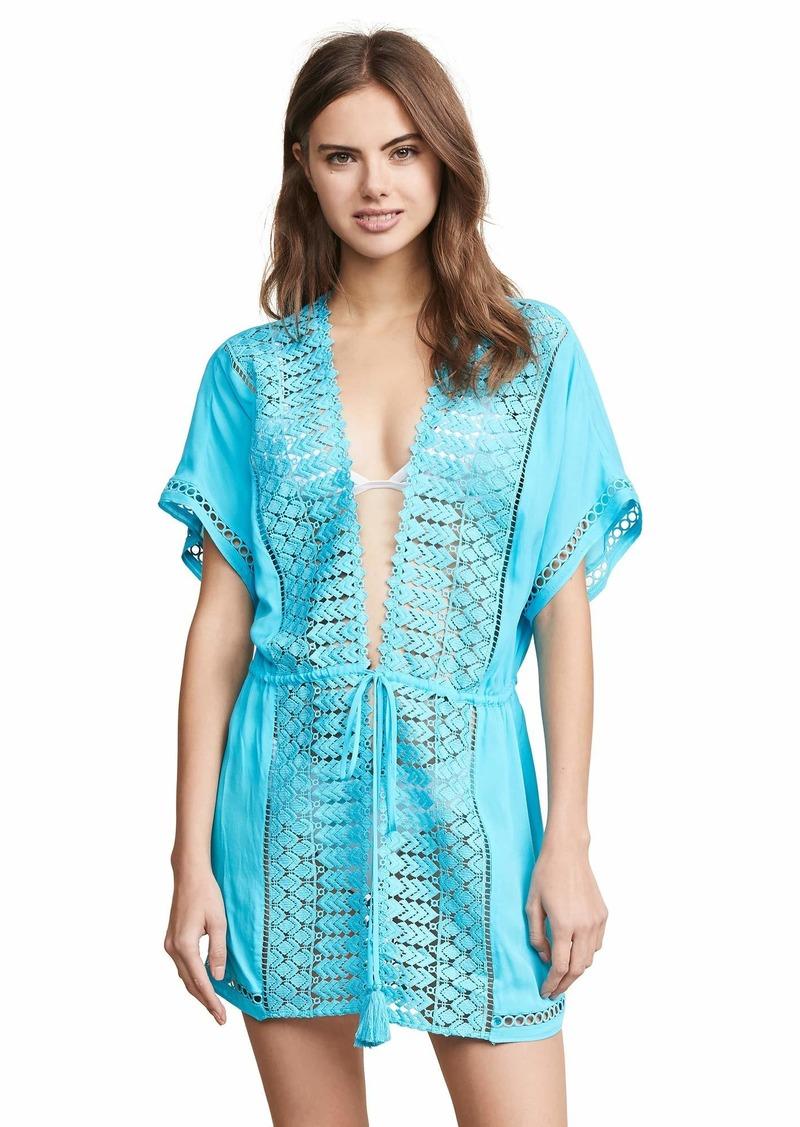 Ramy Brook Women's Costa TIE Front Cover UP Dress  Medium/Large