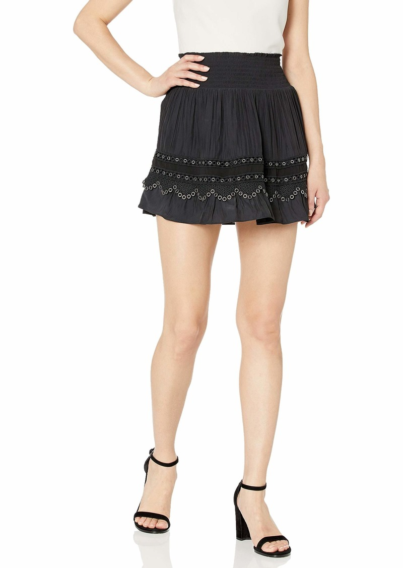Ramy Brook Women's Darin Mini Skirt with Grommet Detail  Extra Small