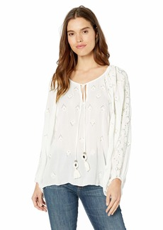 Ramy Brook Women's Embellished MYRA Long Sleeve TOP