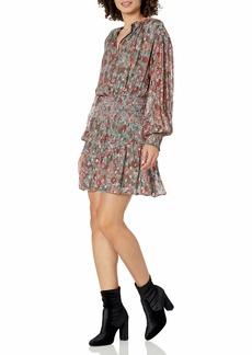 Ramy Brook Women's Printed Blake Long Sleeve Dress