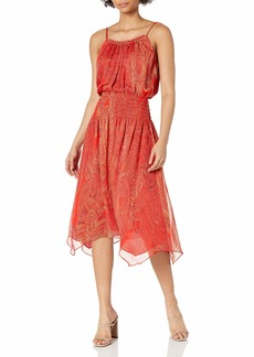 Ramy Brook Women's Printed Trinity Sleeveless Midi Dress  Medium