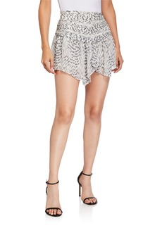 Ramy Brook Renly Ruched Asymmetrical Mini Skirt